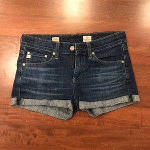AG pixie roll up shorts